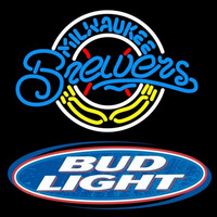 Bud Light Logo Milwaukee Brewers MLB Beer Sign Neon Sign