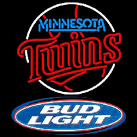 Bud Light Logo Minnesota Twins MLB Beer Sign Neon Sign