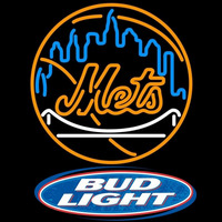 Bud Light Logo New York Mets MLB Beer Sign Neon Sign
