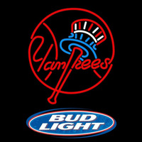 Bud Light Logo New York Yankees MLB Beer Sign Neon Sign