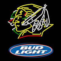Bud Light Logo North Dakota Fighting Sioux Hockey Beer Sign Neon Sign