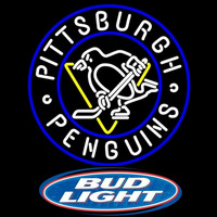 Bud Light Logo Pittsburgh Penguins Beer Sign Neon Sign