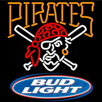 Bud Light Logo Pittsburgh Pirates MLB Beer Sign Neon Sign
