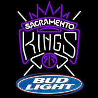 Bud Light Logo Sacramento Kings NBA Beer Sign Neon Sign