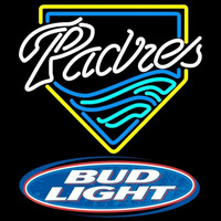 Bud Light Logo San Diego Padres MLB Beer Sign Neon Sign