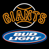 Bud Light Logo San Francisco Giants MLB Beer Sign Neon Sign