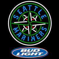 Bud Light Logo Seattle Mariners MLB Beer Sign Neon Sign