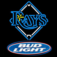 Bud Light Logo Tampa Bay Rays MLB Beer Sign Neon Sign