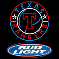 Bud Light Logo Texas Rangers MLB Beer Sign Neon Sign