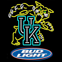 Bud Light Logo UK Kentucky Wildcats Logo NCAA Beer Sign Neon Sign