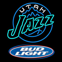 Bud Light Logo Utah Jazz NBA Beer Sign Neon Sign