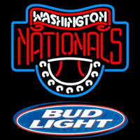 Bud Light Logo Washington Nationals MLB Beer Sign Neon Sign
