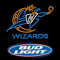 Bud Light Logo Washington Wizards NBA Beer Sign Neon Sign