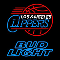 Bud Light Los Angeles Clippers NBA Beer Sign Neon Sign