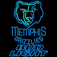 Bud Light Memphis Grizzlies NBA Beer Sign Neon Sign