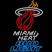 Bud Light Miami Heat NBA Beer Sign Neon Sign