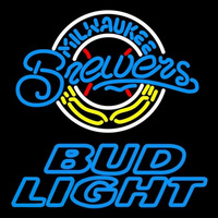 Bud Light Milwaukee Brewers MLB Beer Sign Neon Sign