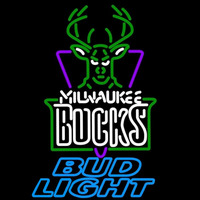 Bud Light Milwaukee Bucks NBA Beer Sign Neon Sign
