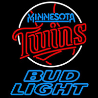 Bud Light Minnesota Twins MLB Beer Sign Neon Sign