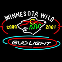 Bud Light Minnesota Wild Beer Sign Neon Sign