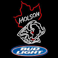 Bud Light Molson Buffalo Sabres NHL Hockey Beer Sign Neon Sign