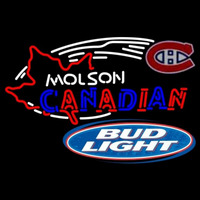 Bud Light Molson Montreal Canadiens Hockey Beer Sign Neon Sign