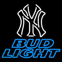 Bud Light New York Yankees White MLB Beer Sign Neon Sign