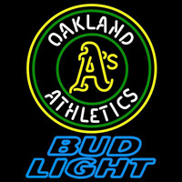 Bud Light Oakland Athletics MLB Beer Sign Neon Sign