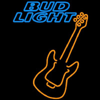Bud Light Only Orange Guitar Beer Sign Neon Sign