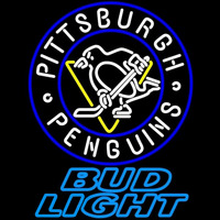 Bud Light Pittsburgh Penguins Beer Sign Neon Sign