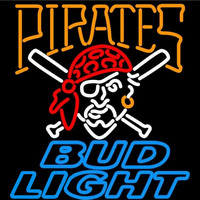 Bud Light Pittsburgh Pirates MLB Beer Sign Neon Sign