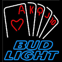 Bud Light Poker Series Beer Sign Neon Sign