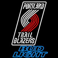 Bud Light Portland Trail Blazers NBA Beer Sign Neon Sign