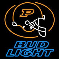 Bud Light Purdue University Boilermakers Helmet Beer Sign Neon Sign