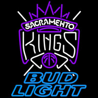 Bud Light Sacramento Kings NBA Beer Sign Neon Sign