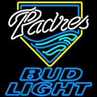 Bud Light San Diego Padres MLB Beer Sign Neon Sign