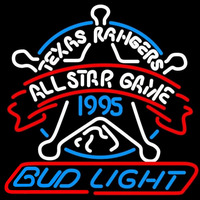 Bud Light Texas Rangers Beer Sign Neon Sign