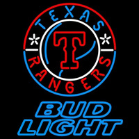 Bud Light Texas Rangers MLB Beer Sign Neon Sign