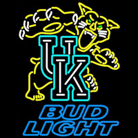 Bud Light UK Kentucky Wildcats Logo NCAA Beer Sign Neon Sign