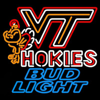 Bud Light Virginia Tech Vt Hokies Logo Hockey Beer Sign Neon Sign