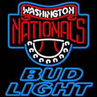 Bud Light Washington Nationals MLB Beer Sign Neon Sign
