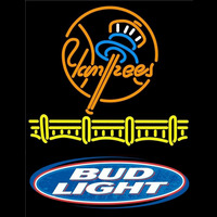 Bud Lite Logo New York Yankees Beer Sign Neon Sign