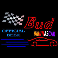 Bud NASCAR Official Neon Sign