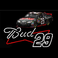 Bud with 29 Nascar Neon Sign