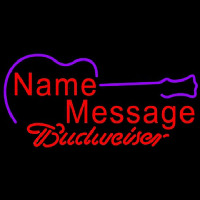 Budweiser Acoustic Guitar Beer Sign Neon Sign