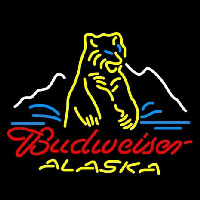 Budweiser Alaska Polar Bear Beer Neon Sign