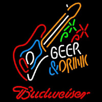 Budweiser And Drink Guitar Beer Sign Neon Sign