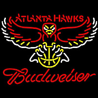 Budweiser Atlanta Hawks NBA Beer Sign Neon Sign