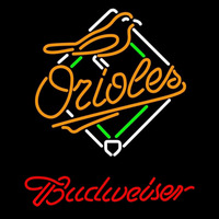 Budweiser Baltimore Orioles MLB Beer Sign Neon Sign