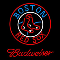 Budweiser Boston Red Sox MLB Beer Sign Neon Sign